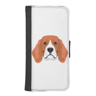 Illustration dogs face Beagle iPhone SE/5/5s Wallet Case