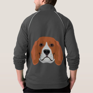 Illustration dogs face Beagle Jacket