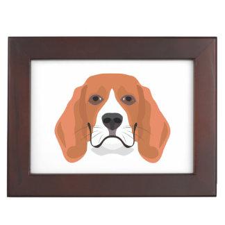 Illustration dogs face Beagle Keepsake Box