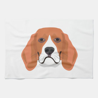 Illustration dogs face Beagle Kitchen Towel