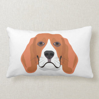Illustration dogs face Beagle Lumbar Pillow