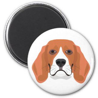 Illustration dogs face Beagle Magnet