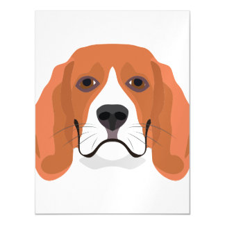 Illustration dogs face Beagle Magnetic Card