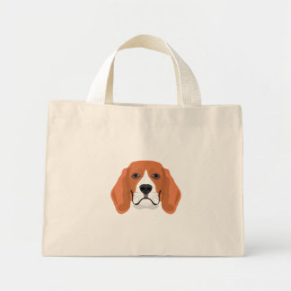 Illustration dogs face Beagle Mini Tote Bag