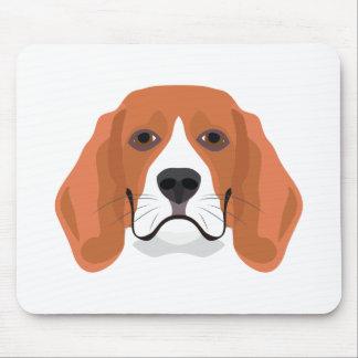 Illustration dogs face Beagle Mouse Pad