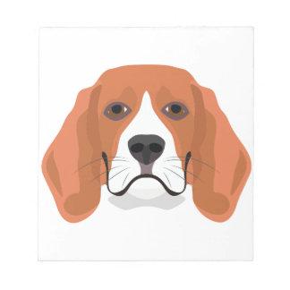 Illustration dogs face Beagle Notepad