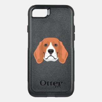Illustration dogs face Beagle OtterBox Commuter iPhone 8/7 Case