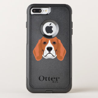 Illustration dogs face Beagle OtterBox Commuter iPhone 8 Plus/7 Plus Case