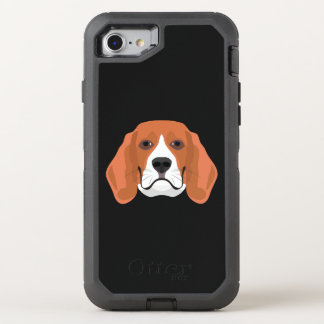 Illustration dogs face Beagle OtterBox Defender iPhone 8/7 Case