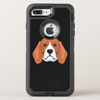 Illustration dogs face Beagle OtterBox Defender iPhone 8 Plus/7 Plus Case