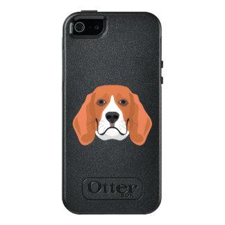 Illustration dogs face Beagle OtterBox iPhone 5/5s/SE Case