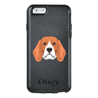 Illustration dogs face Beagle OtterBox iPhone 6/6s Case