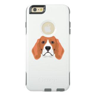 Illustration dogs face Beagle OtterBox iPhone 6/6s Plus Case