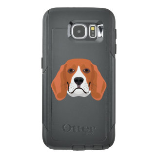 Illustration dogs face Beagle OtterBox Samsung Galaxy S6 Case