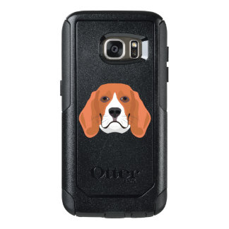 Illustration dogs face Beagle OtterBox Samsung Galaxy S7 Case