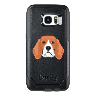 Illustration dogs face Beagle OtterBox Samsung Galaxy S7 Edge Case