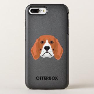 Illustration dogs face Beagle OtterBox Symmetry iPhone 8 Plus/7 Plus Case