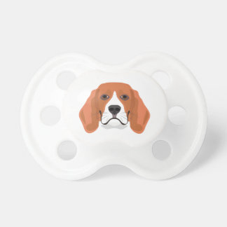 Illustration dogs face Beagle Pacifier