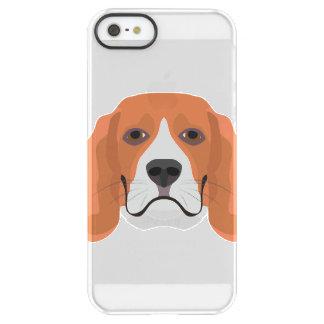 Illustration dogs face Beagle Permafrost® iPhone SE/5/5s Case