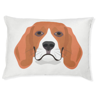 Illustration dogs face Beagle Pet Bed