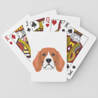 Illustration dogs face Beagle Playing Cards