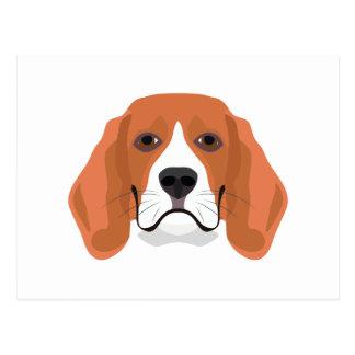 Illustration dogs face Beagle Postcard