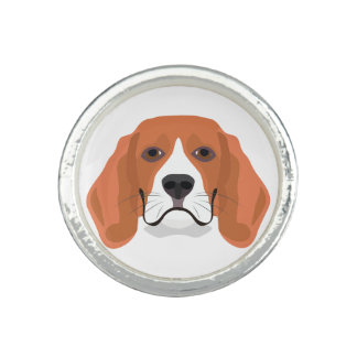 Illustration dogs face Beagle Ring