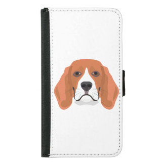 Illustration dogs face Beagle Samsung Galaxy S5 Wallet Case