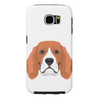 Illustration dogs face Beagle Samsung Galaxy S6 Case