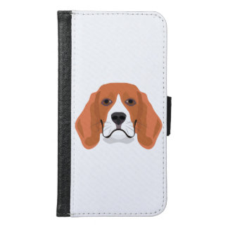 Illustration dogs face Beagle Samsung Galaxy S6 Wallet Case