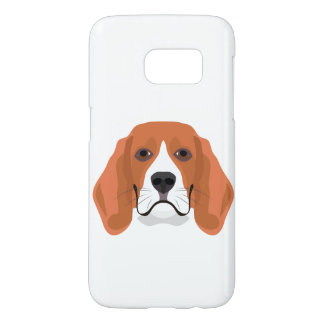 Illustration dogs face Beagle Samsung Galaxy S7 Case