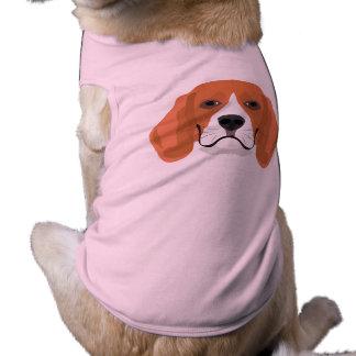Illustration dogs face Beagle Shirt