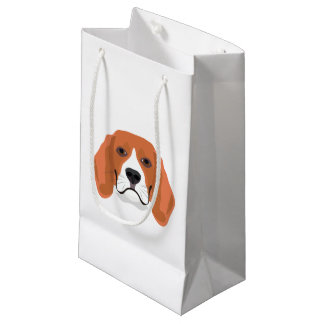 Illustration dogs face Beagle Small Gift Bag