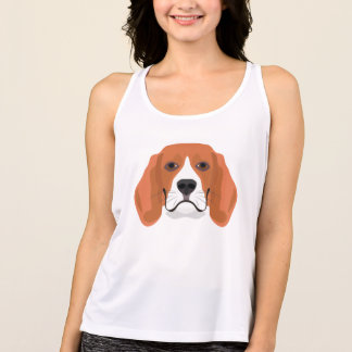 Illustration dogs face Beagle Tank Top