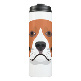 Illustration dogs face Beagle Thermal Tumbler
