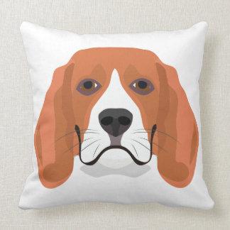 Illustration dogs face Beagle Throw Pillow