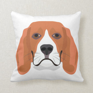 Illustration dogs face Beagle Throw Pillow