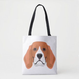 Illustration dogs face Beagle Tote Bag