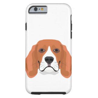 Illustration dogs face Beagle Tough iPhone 6 Case