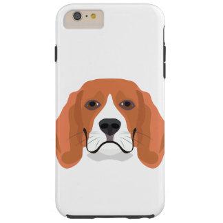 Illustration dogs face Beagle Tough iPhone 6 Plus Case