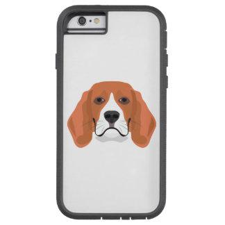 Illustration dogs face Beagle Tough Xtreme iPhone 6 Case