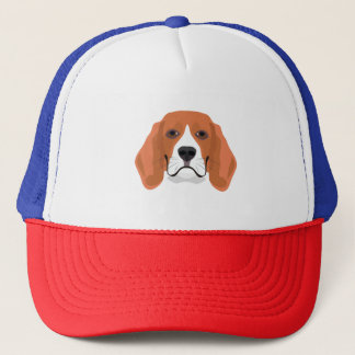 Illustration dogs face Beagle Trucker Hat