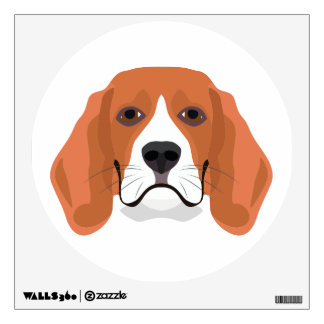 Illustration dogs face Beagle Wall Decal