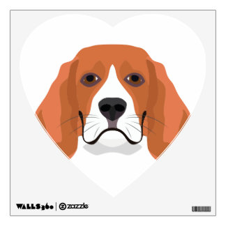 Illustration dogs face Beagle Wall Sticker