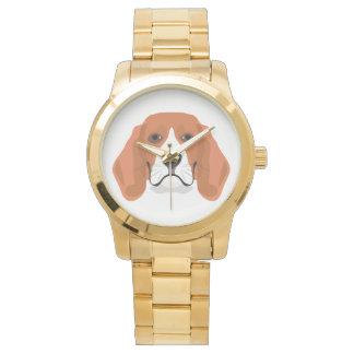 Illustration dogs face Beagle Watch