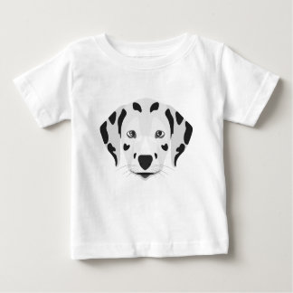 Illustration dogs face Dalmatian Baby T-Shirt