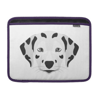 Illustration dogs face Dalmatian Sleeve For MacBook Air