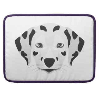 Illustration dogs face Dalmatian Sleeve For MacBook Pro
