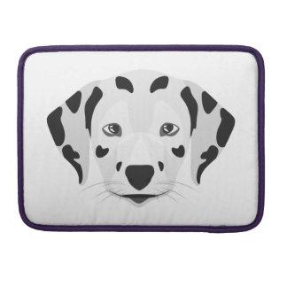 Illustration dogs face Dalmatian Sleeve For MacBooks