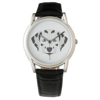 Illustration dogs face Dalmatian Watch